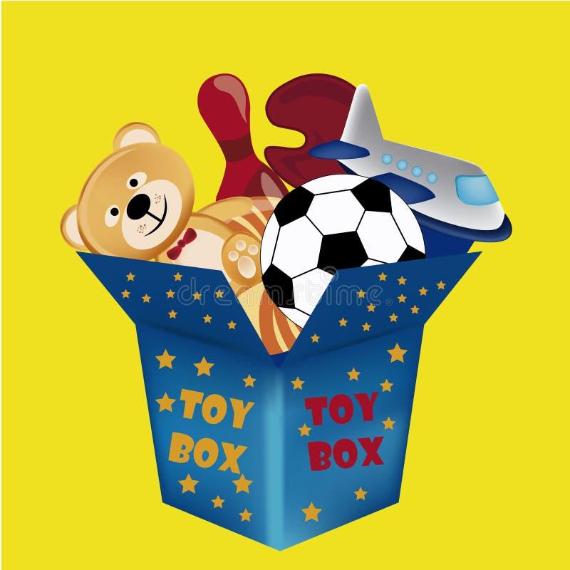 Toy box vector illustration