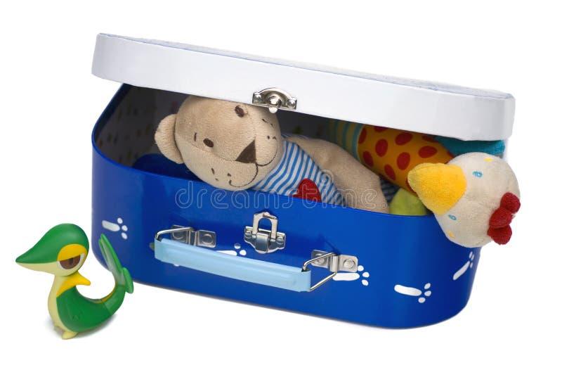 Toy box closed stock photo