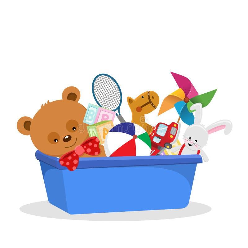Toy Box stock illustration