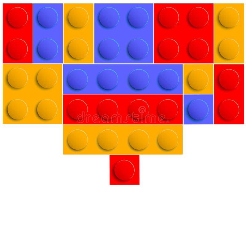 Toy bricks royalty free illustration