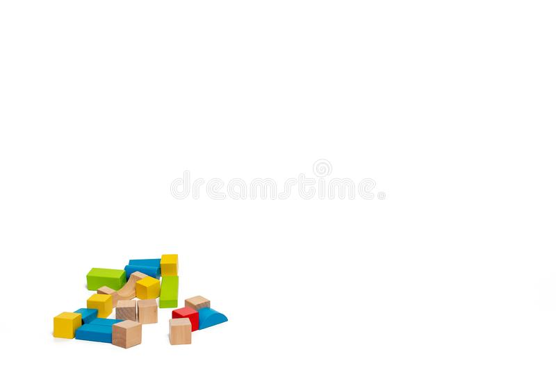 Toy building blocks in with background stock photo