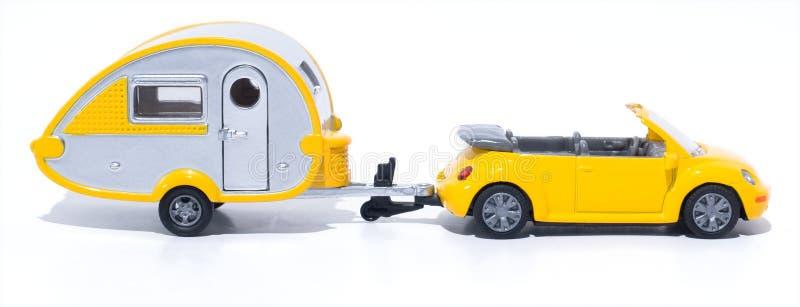 Toy cabrio and camper
