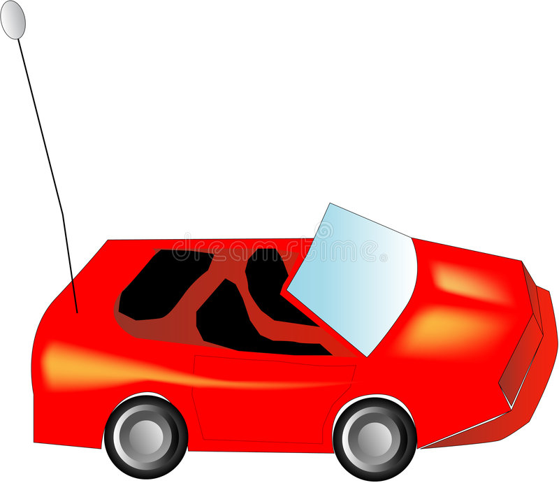 Toy car. Illustration of a toy car stock illustration