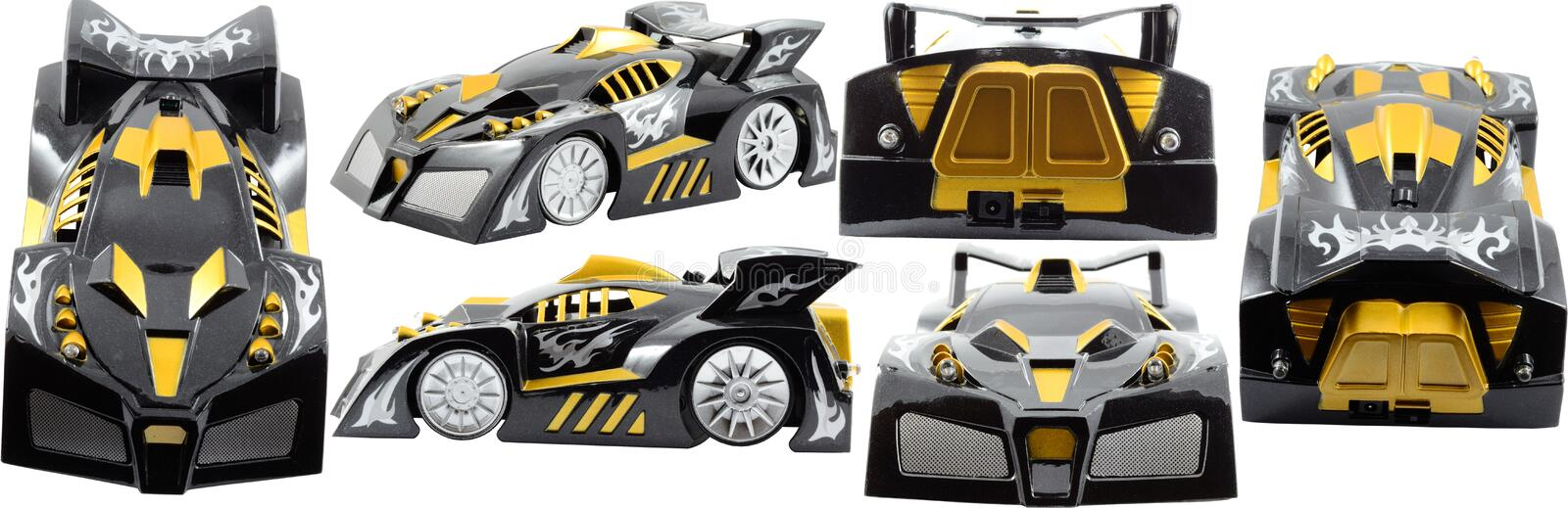 Toy Car. Isolated On White vector illustration