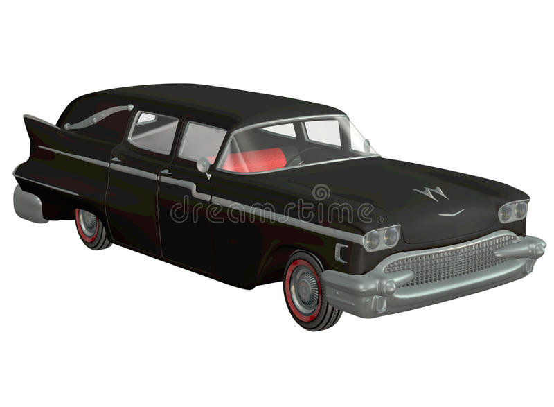 Toy car 3. 3D render of a black toy car royalty free illustration