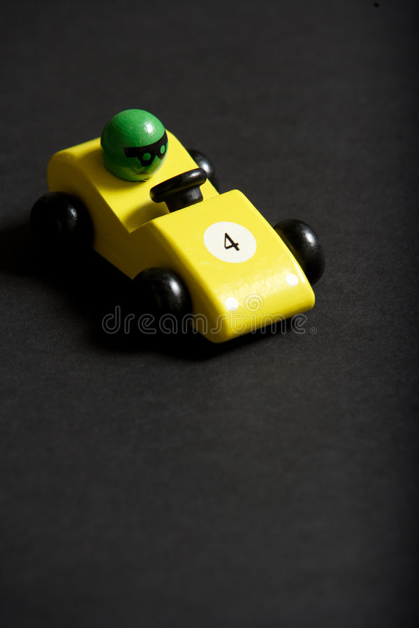 Toy Car. In the studio on a black background royalty free stock photo