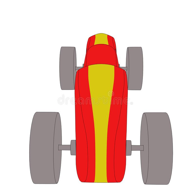 Toy car with black outlines vector illustration
