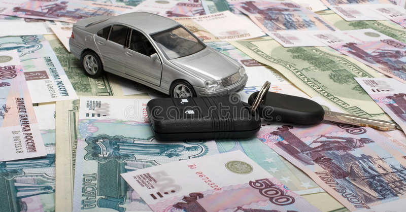 Toy car and car keys stock photos