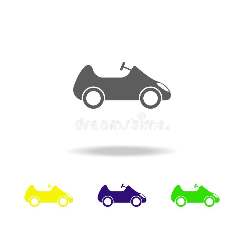 Toy car colored icons. Element of toys. Can be used for web, logo, mobile app, UI, UX. On white background vector illustration