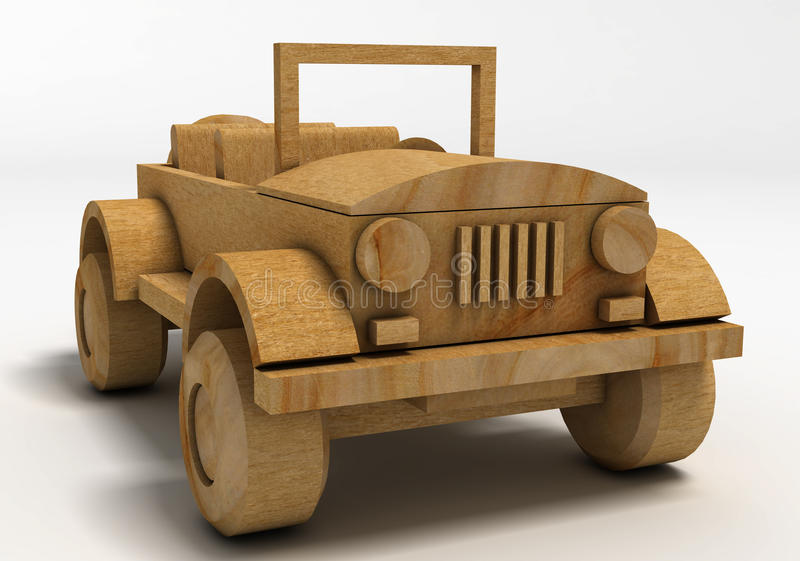 Toy Car de madeira ilustração royalty free