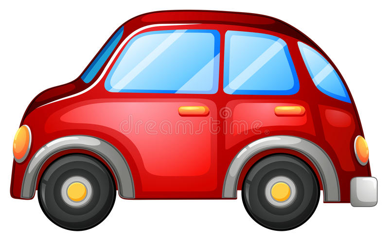A toy car. Illustration of a toy car on a white background royalty free illustration