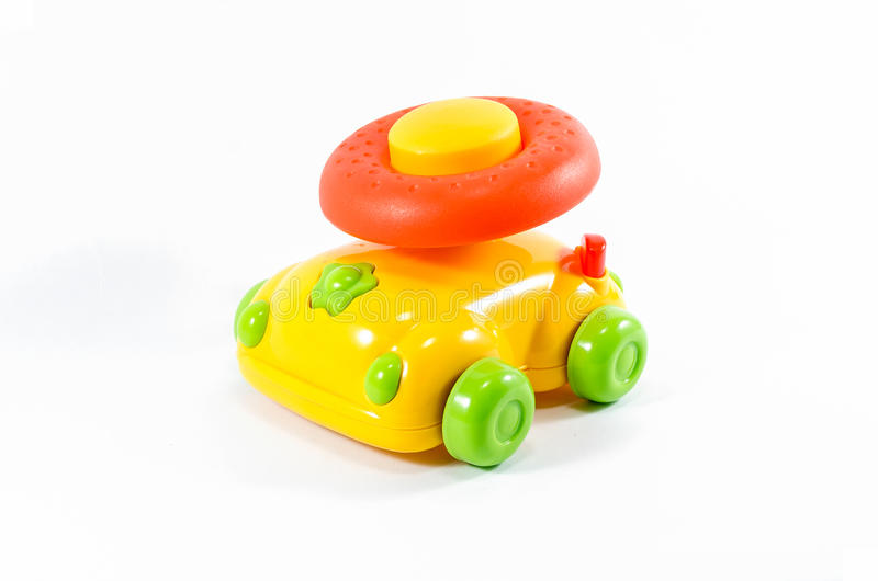 Toy Car lokalisierte auf Weiß stockfoto