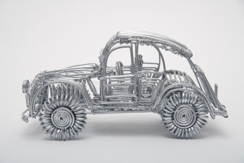 Toy Car Made Of Pliable Wire Against White Background Stock Photo ...