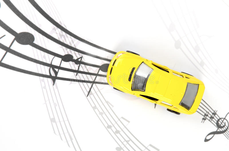 Toy car and music royalty free illustration