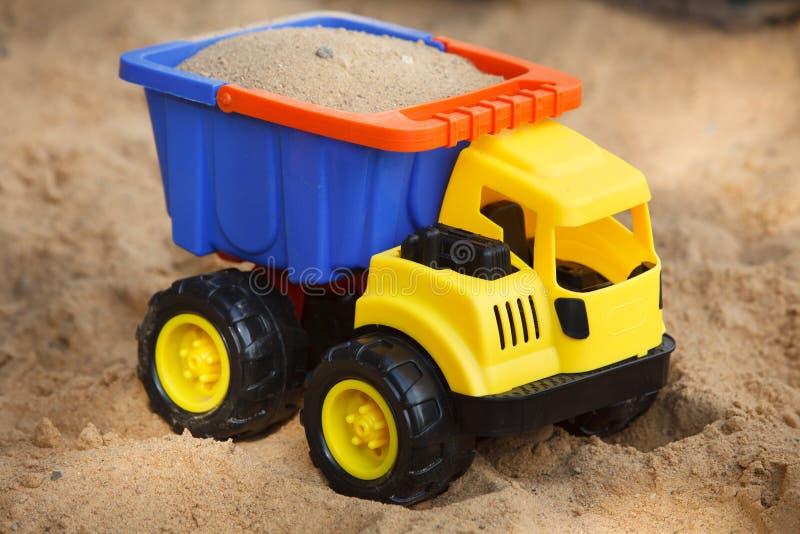 Toy car in sandbox
