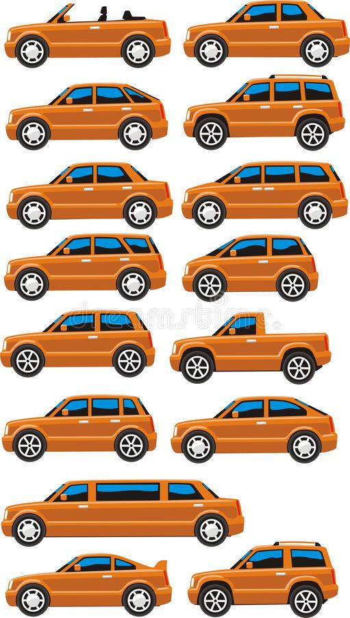 Download Toy car set stock vector. Image of universality, vehicle - 18002387