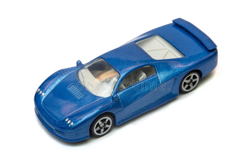 Toy car the sport coupe isolated on white.  royalty free stock photography