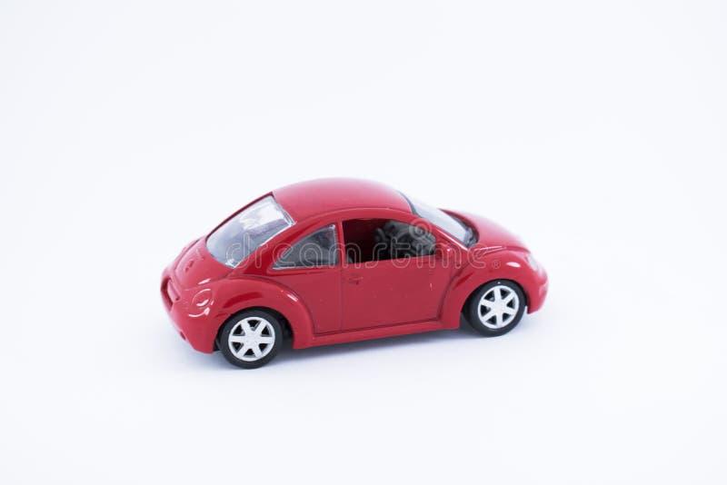 Toy Car vermelho com fundo branco foto de stock royalty free