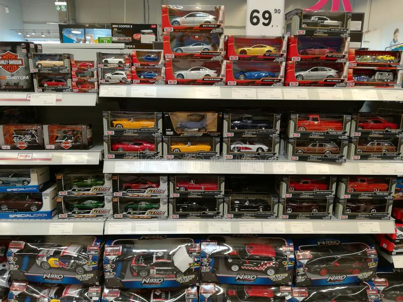 Toy cars for children stock image