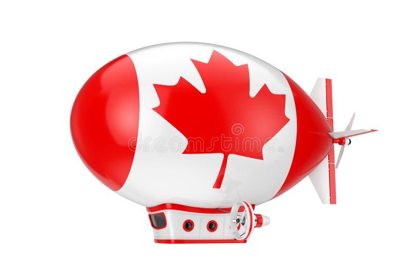 Toy Cartoon Airship Dirigible Balloon avec le drapeau du Canada rendu 3d photos stock