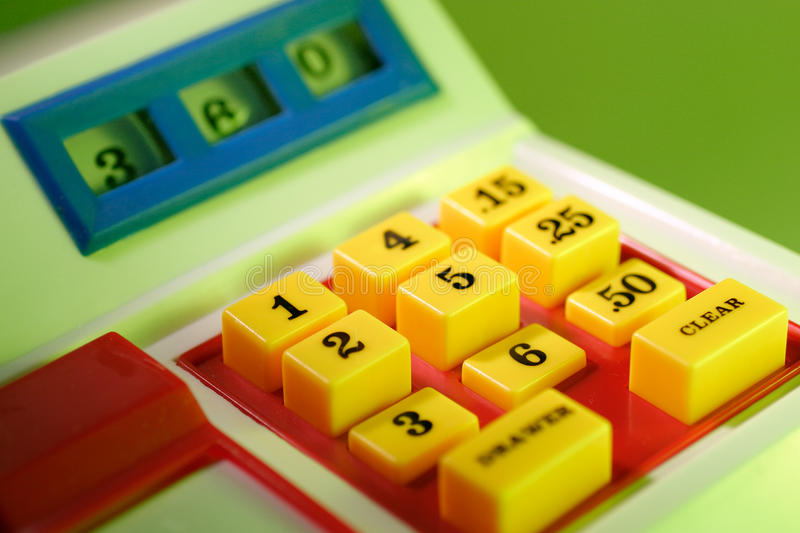 Toy Cash Register royalty free stock image