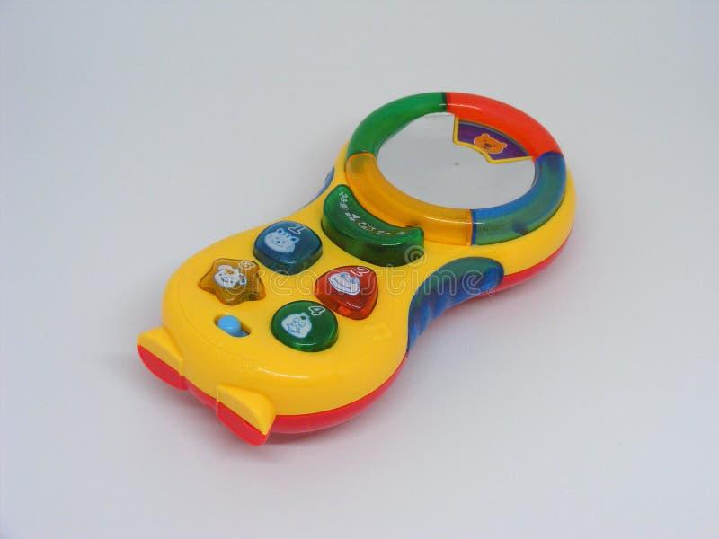 Toy Cell-telefoon op witte achtergrond wordt geïsoleerd die stock foto's