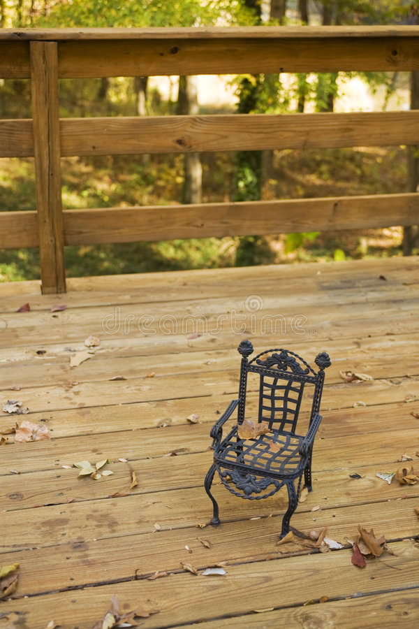 Toy Chair On A Deck Stock Photo
