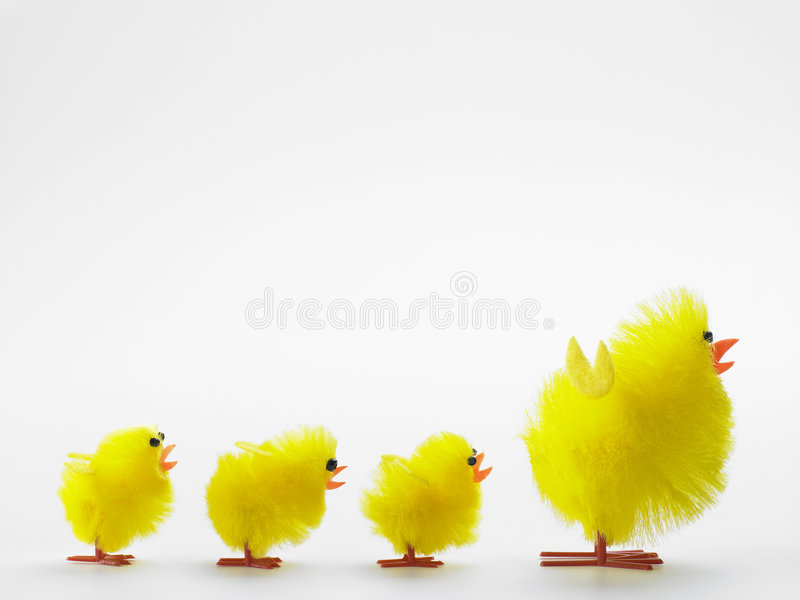 Toy Chicks And Mother For Easter Celebrations