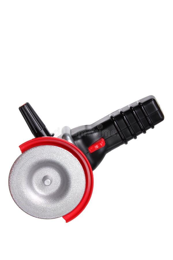 Toy Circular Saw. On White Background royalty free stock photo