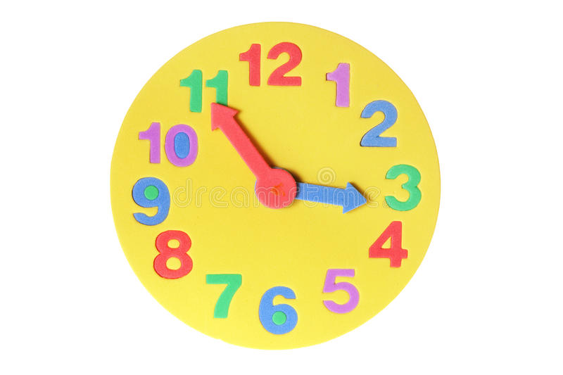 Download Toy Clock stock image. Image of deadline, life, white - 19081691