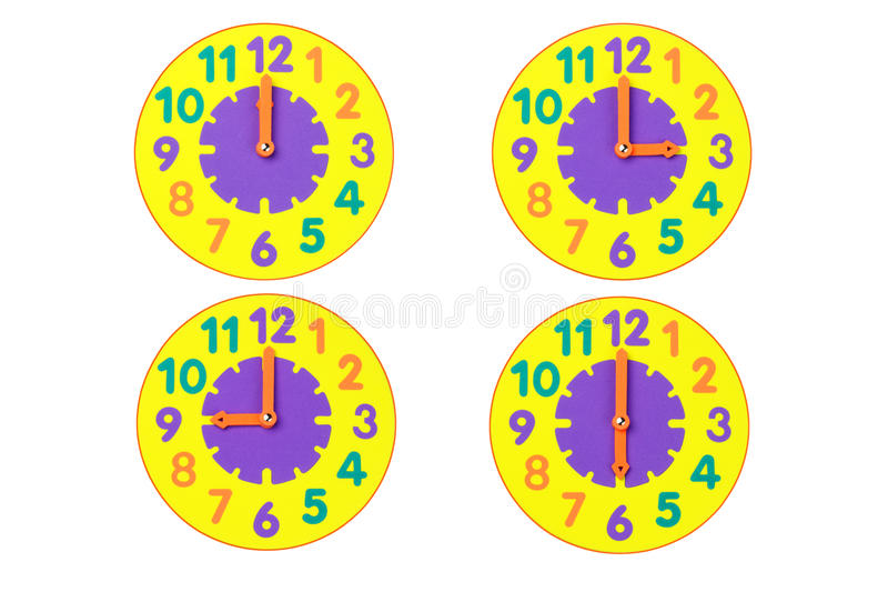Toy Clocks Stock Photo