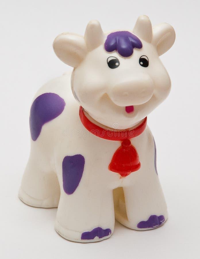 Toy cow stock photo