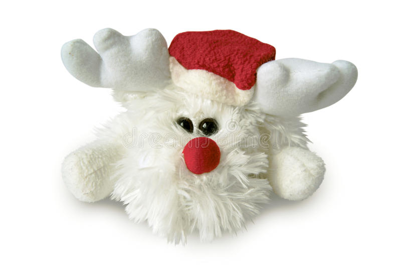 Toy Cristmas Deer Isolated Royalty Free Stock Images