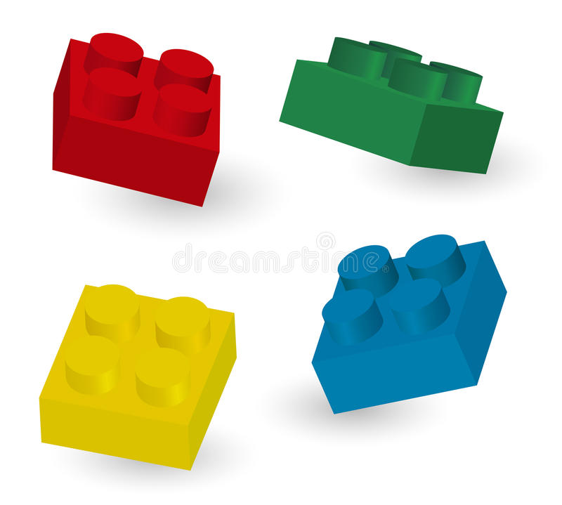Download Toy Cubes stock vector. Image of block, blue, childhood - 25595511