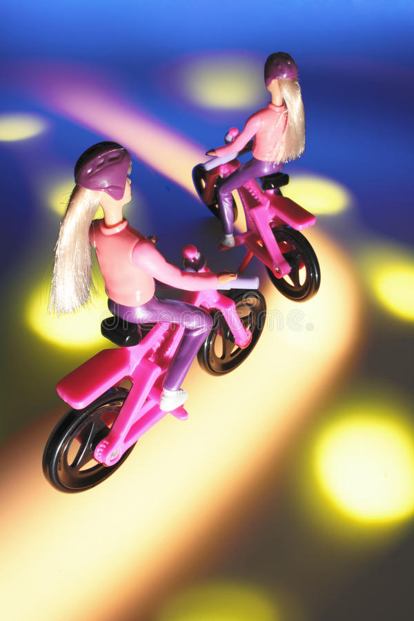 Download Toy Cyclists stock photo. Image of female, life, figures - 21883670