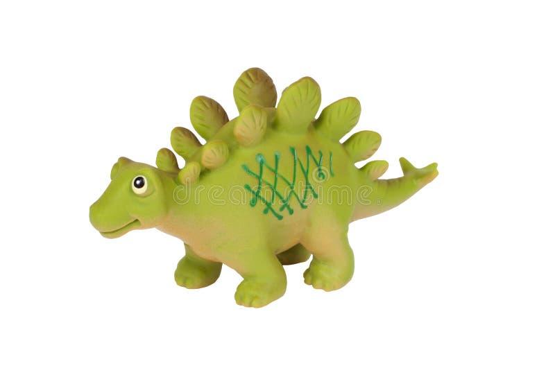 Toy dinosaur. Stegosaurus isolated on background royalty free stock image