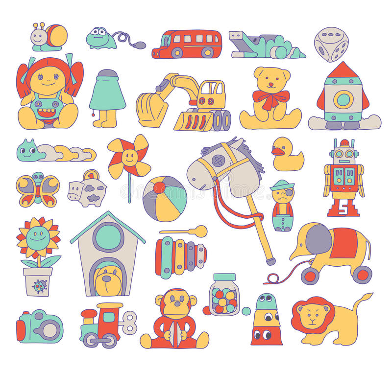 Toy Doodle Illustration imagem de stock royalty free