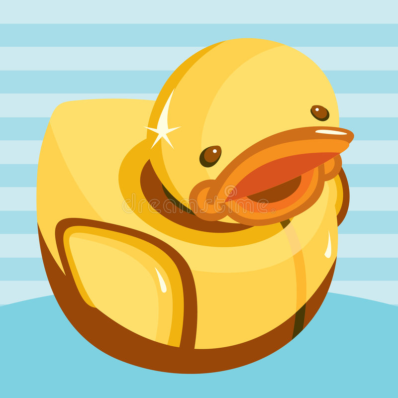Download Toy Duck stock vector. Illustration of bath, rubber, hygiene - 5421094