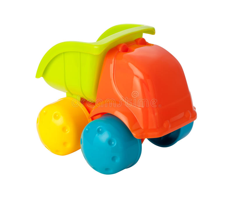 Toy Dump Truck (clipping Path) Stock Photo