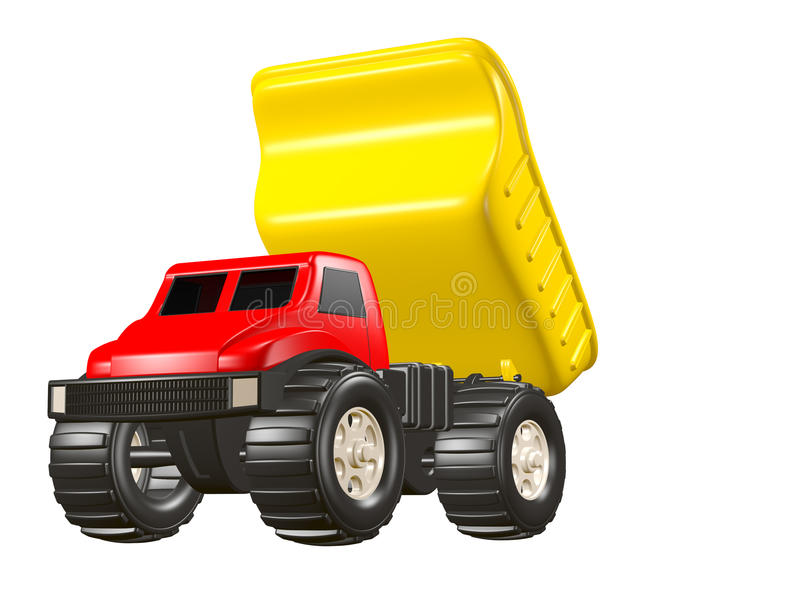 Toy Dump Truck Dumping Load royalty free illustration