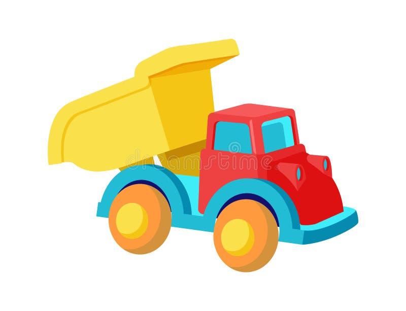 Toy Dump Truck Plastic Car dans le vecteur lumineux de couleurs illustration libre de droits