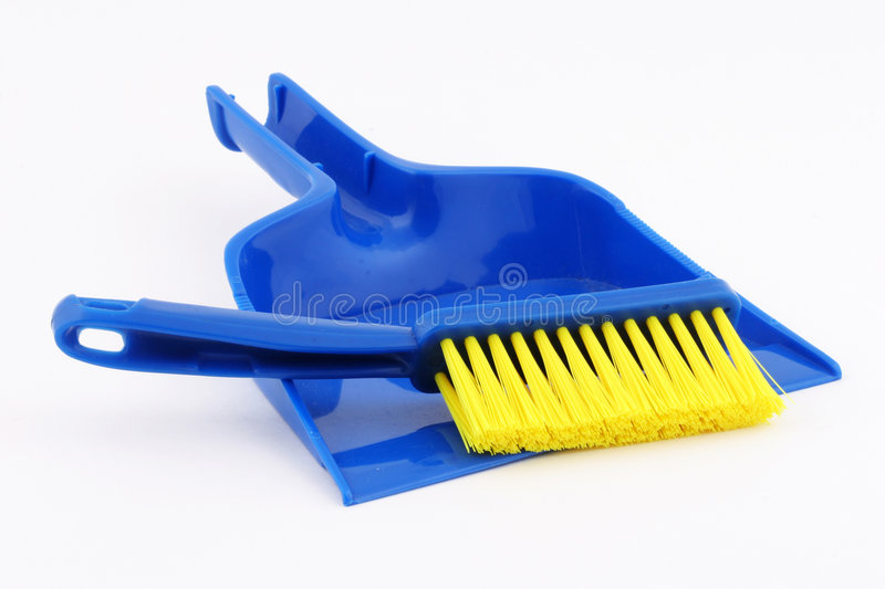 Toy dustpan and broom stock photo