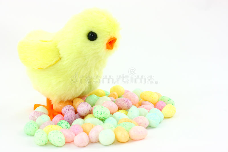 Download Toy Easter Chick With Jelly Beans Stock Image - Image of decorative, event: 13275453