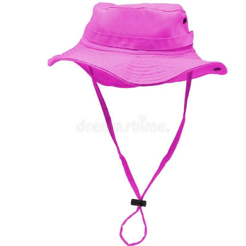 Toy Explorer Hat cor-de-rosa fotografia de stock