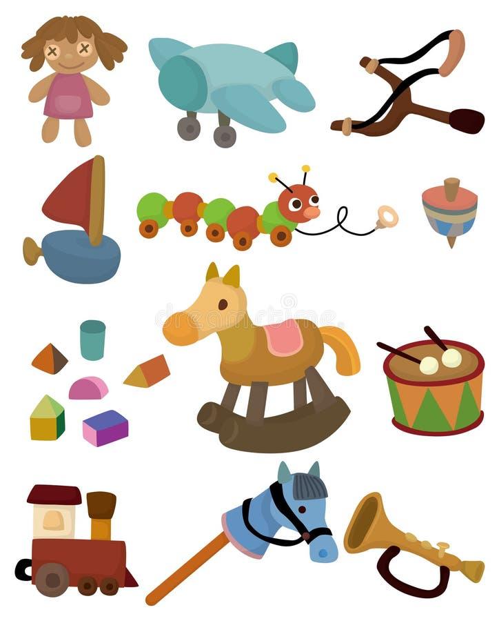 toy för tecknad filmbarnsymbol royaltyfri illustrationer