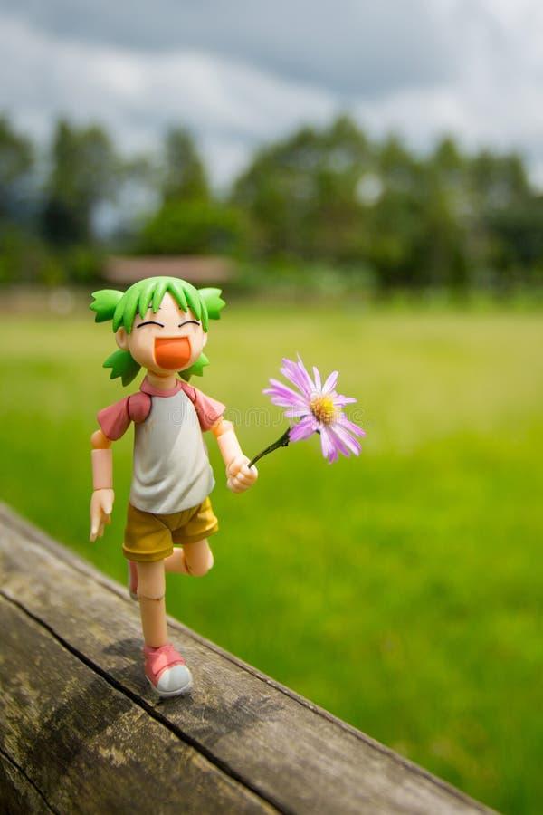 Toy Figure Happy immagine stock