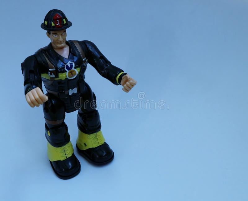 Toy firefighter stock photos