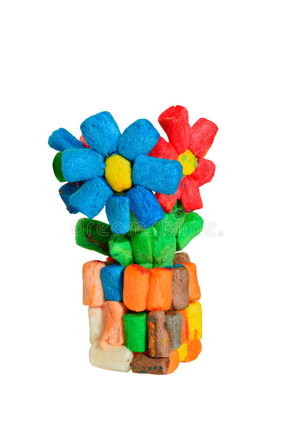 Toy Flowers royalty free stock photos