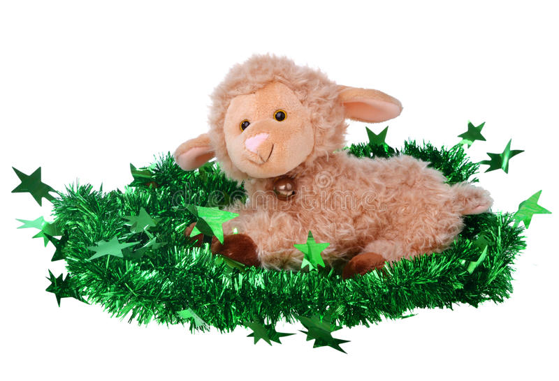 Download Toy fluffy sheep stock photo. Image of smooth, childhood - 46401086