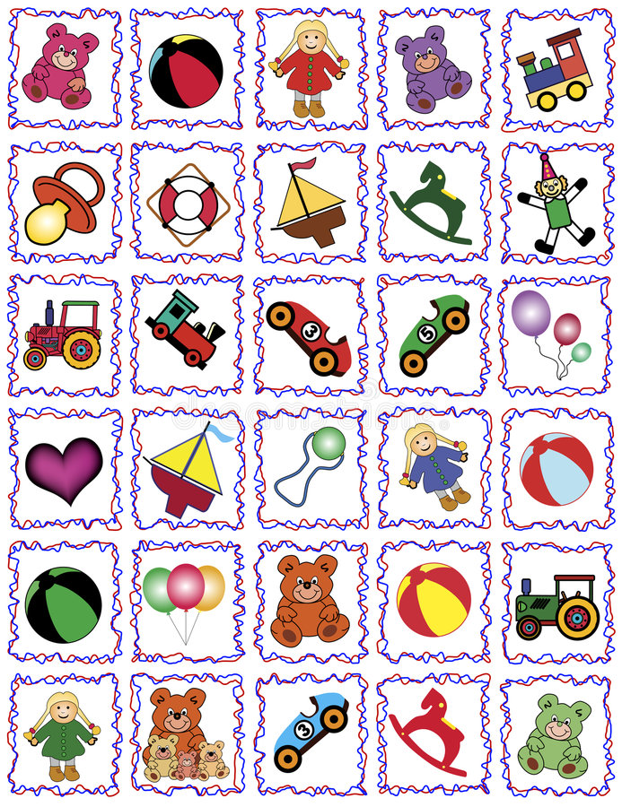 Toy frames royalty free stock photography